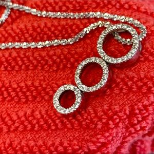 Genuine Diamond White Gold Necklace. $600 orig.